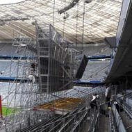 Baustelle in der Allianz Arena