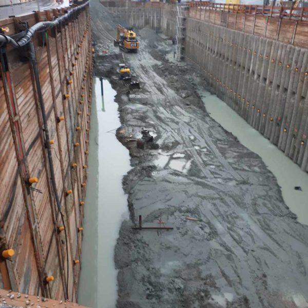 Bild einer großen Baustelle