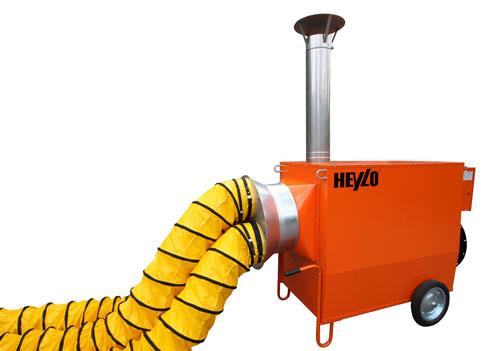 Warmlufterzeuger mit Schlauch von Heylo